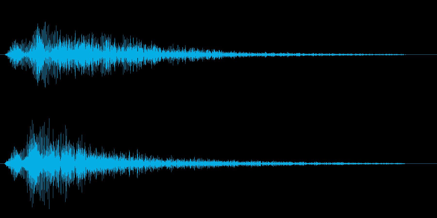デュルルーン(ブレーキのかかった様な音)の再生済みの波形