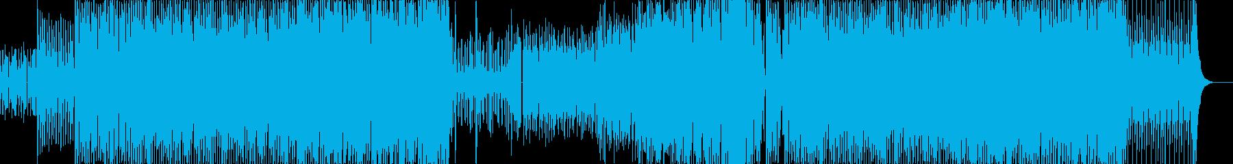 アコギ×ディスコなクール系楽曲の再生済みの波形