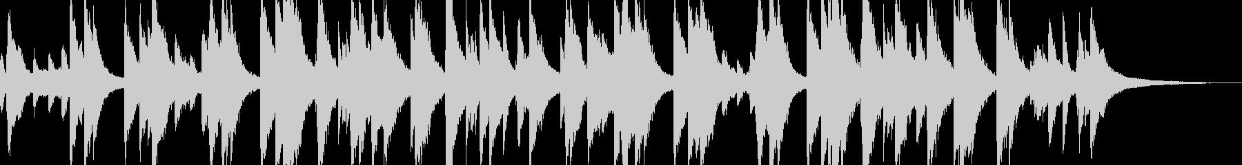 想い出をイメージしたピアノソロの未再生の波形