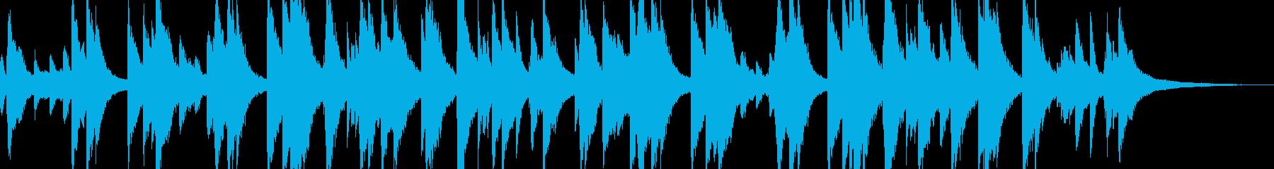 想い出をイメージしたピアノソロの再生済みの波形