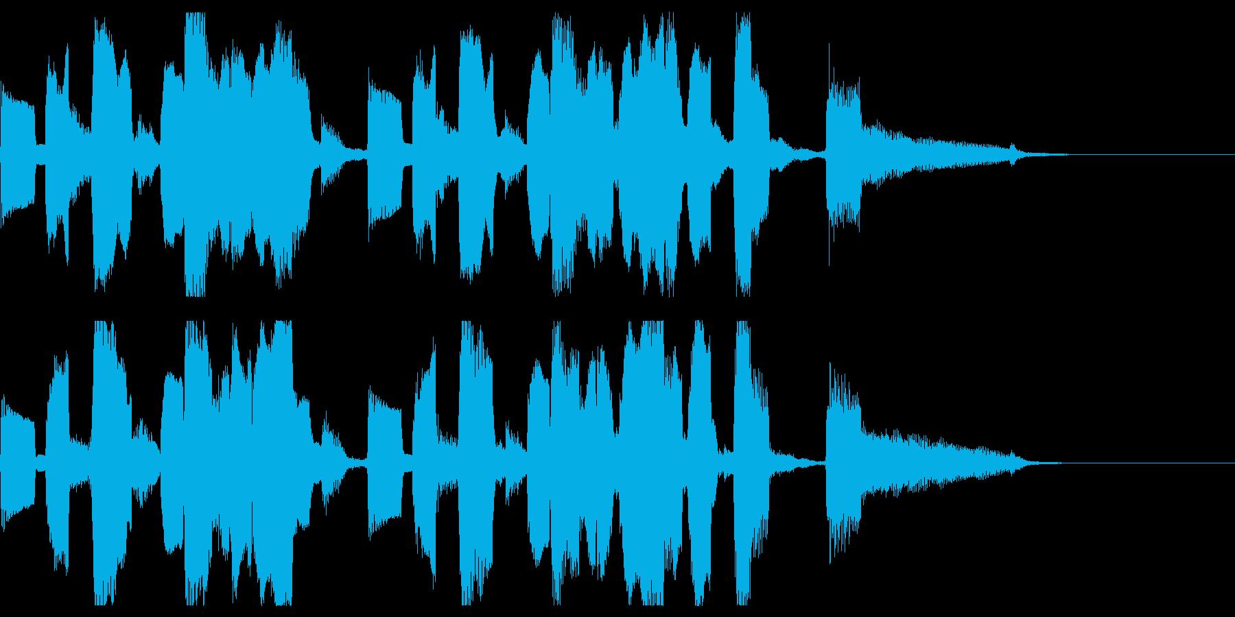 ギターと口笛が軽快なジングル(拍手なし)の再生済みの波形