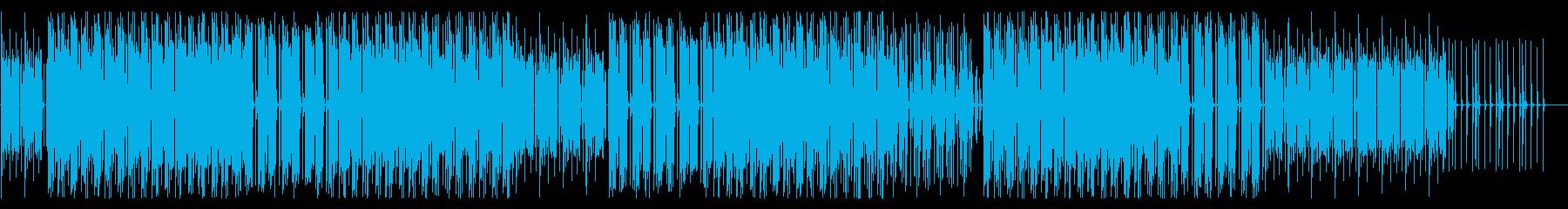 テンポのいい、少しコミカルで元気な曲の再生済みの波形