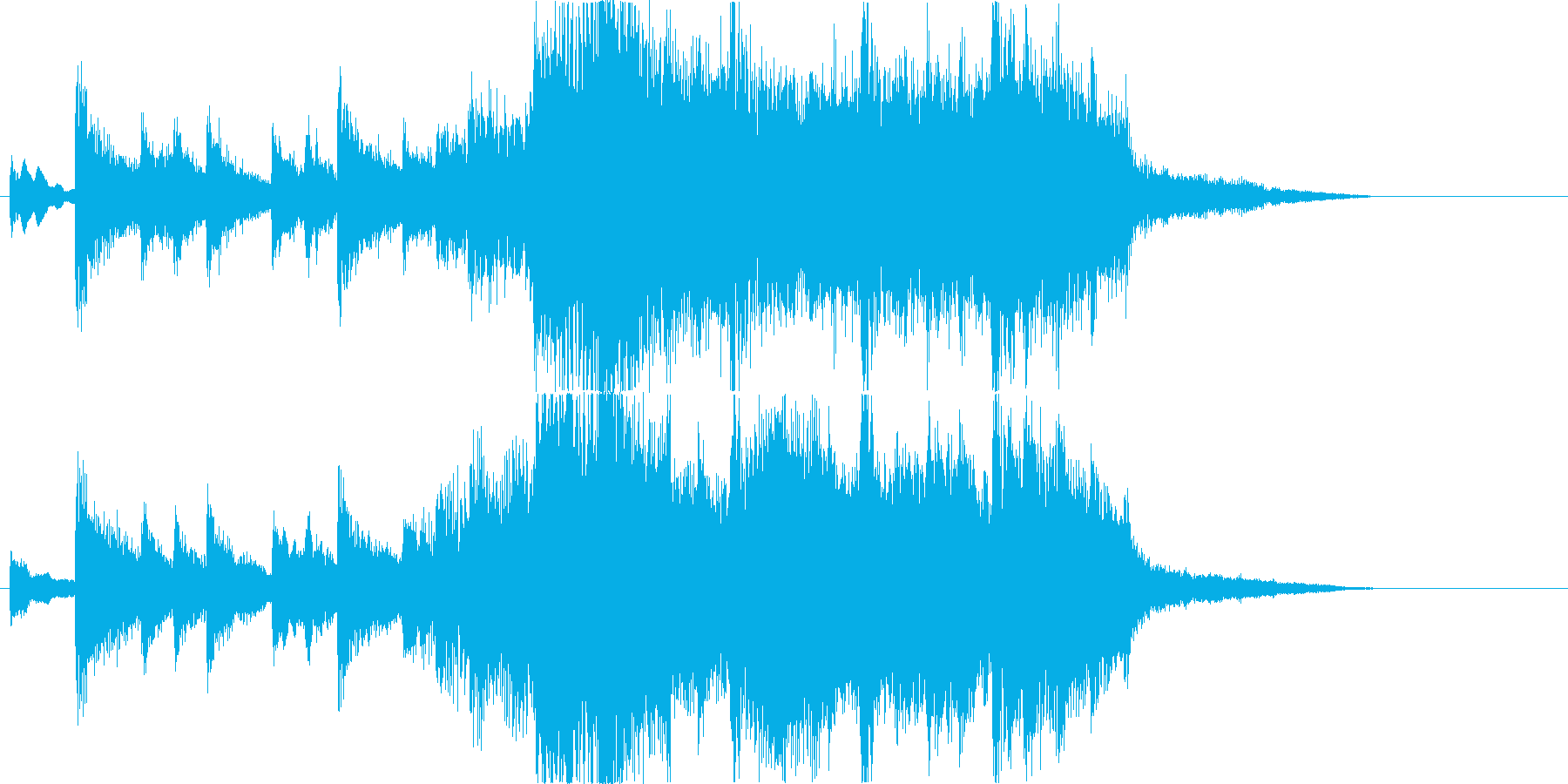 和楽器とオーケストラの壮大なBGMの再生済みの波形