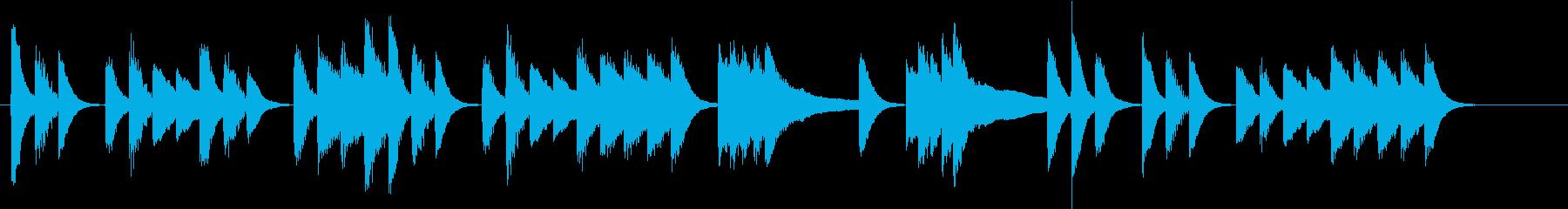 へんてこりんメロディの軽快ピアノジングルの再生済みの波形