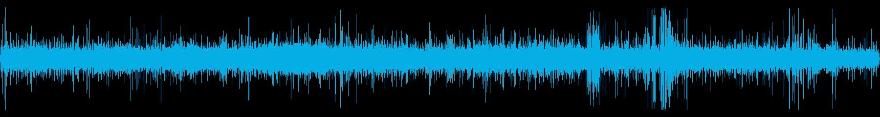 雨と遠くの工事現場の音 2の再生済みの波形