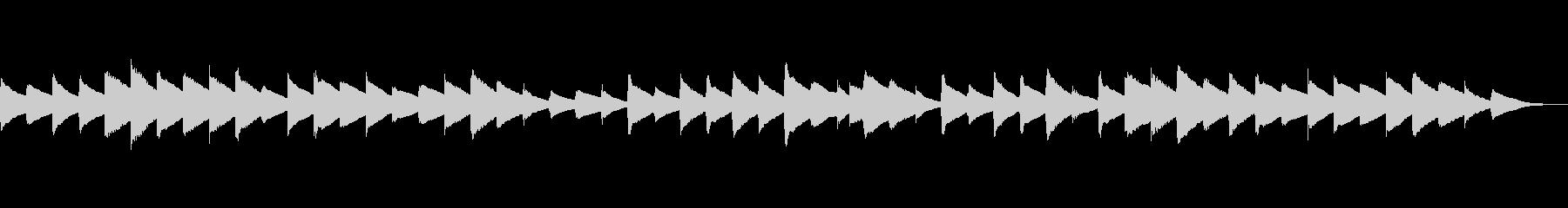 少し切ない癒しのオルゴールメロディの未再生の波形