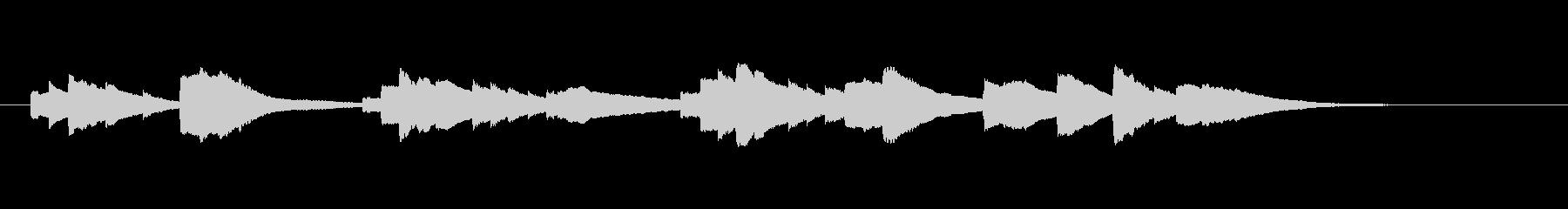サウンドロゴ的な短いオルゴールの未再生の波形