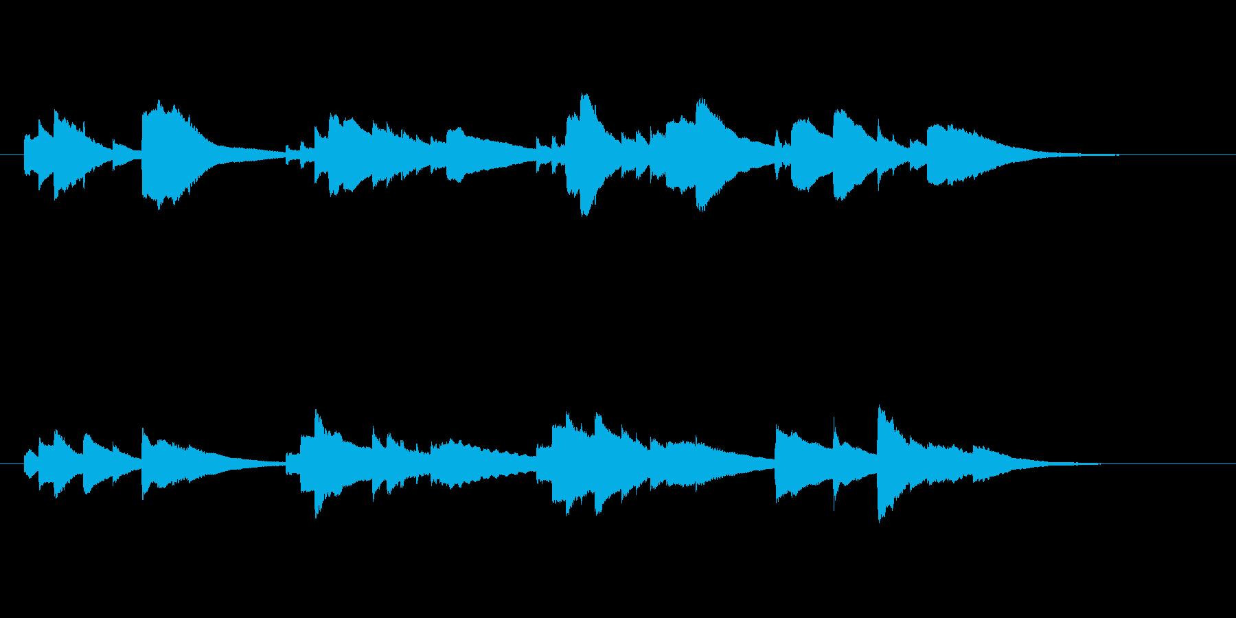 サウンドロゴ的な短いオルゴールの再生済みの波形