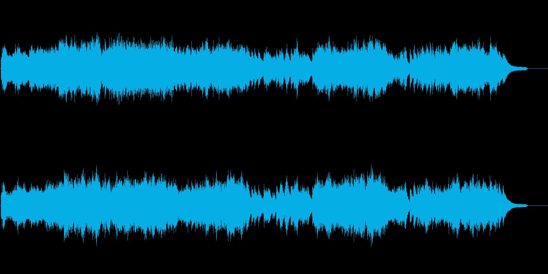 激しく情熱的な現代的なピアノ楽曲の再生済みの波形