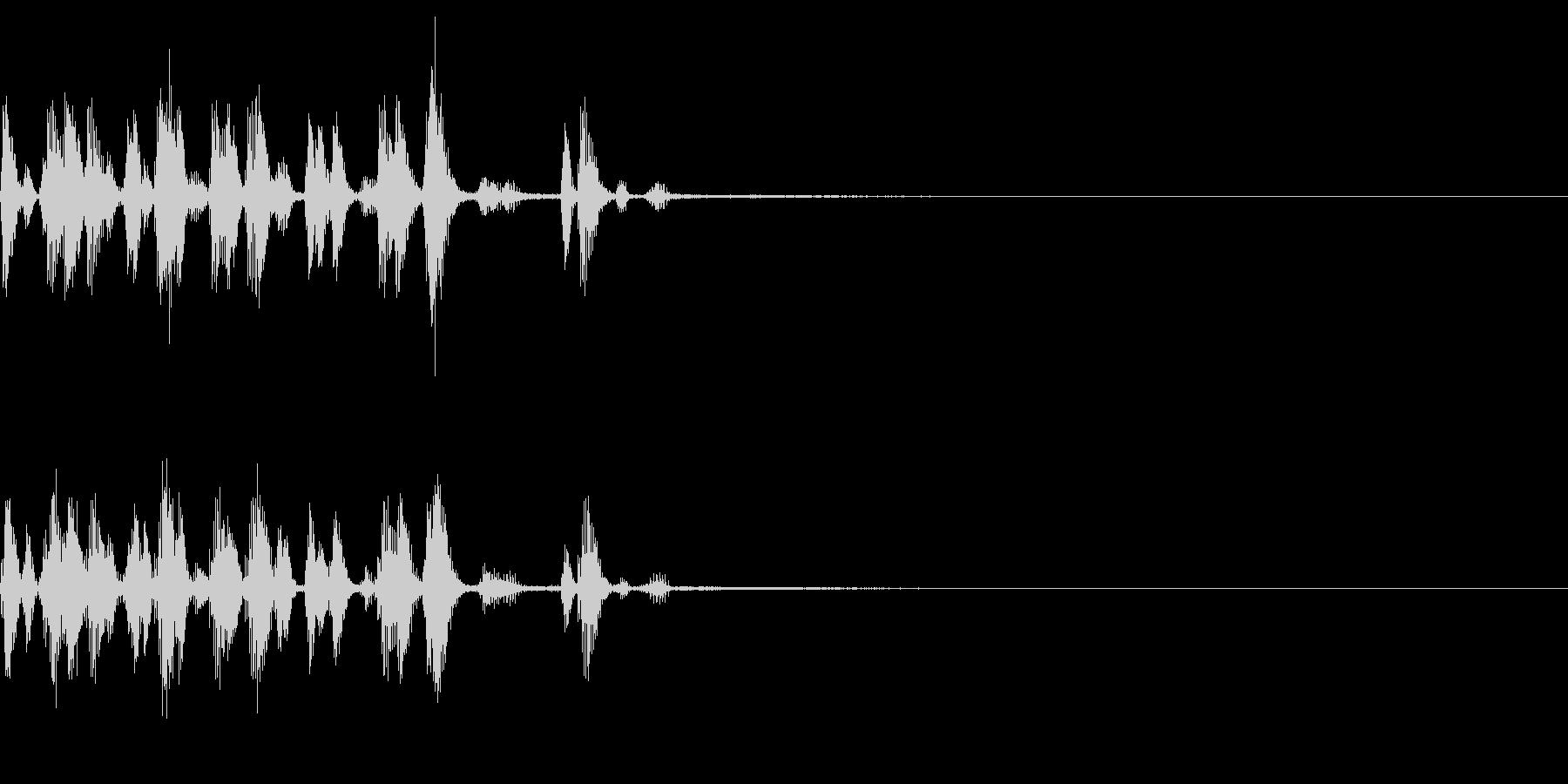 生き物の声 食事を食べる 会話 アワワの未再生の波形