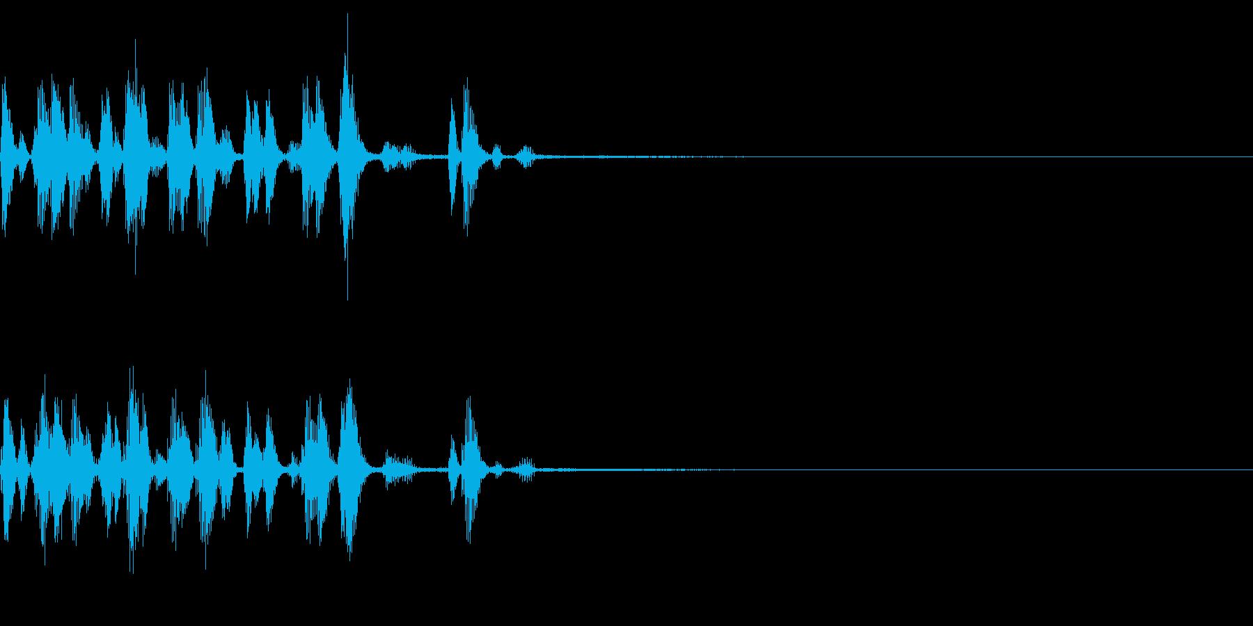 生き物の声 食事を食べる 会話 アワワの再生済みの波形