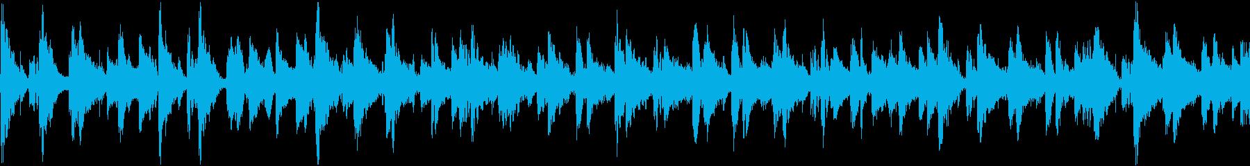 甘い音色の落ち着いたジャズトラックの再生済みの波形