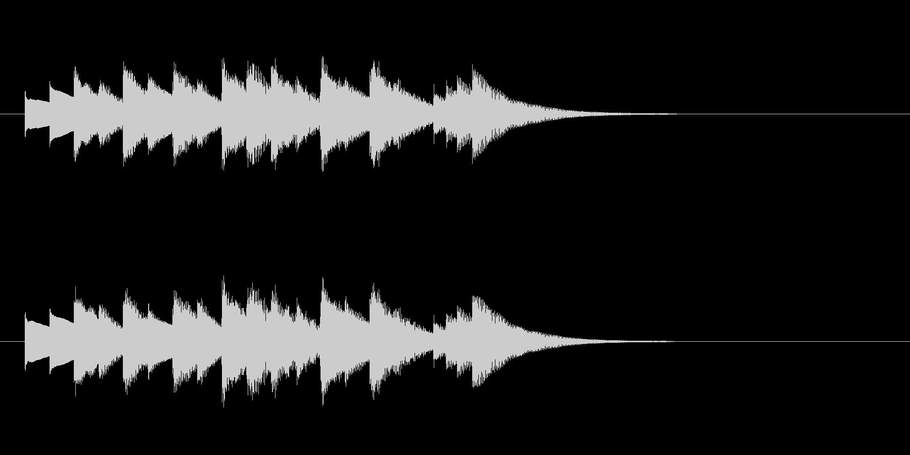 きらっと切ない系オルゴールジングル・短調の未再生の波形