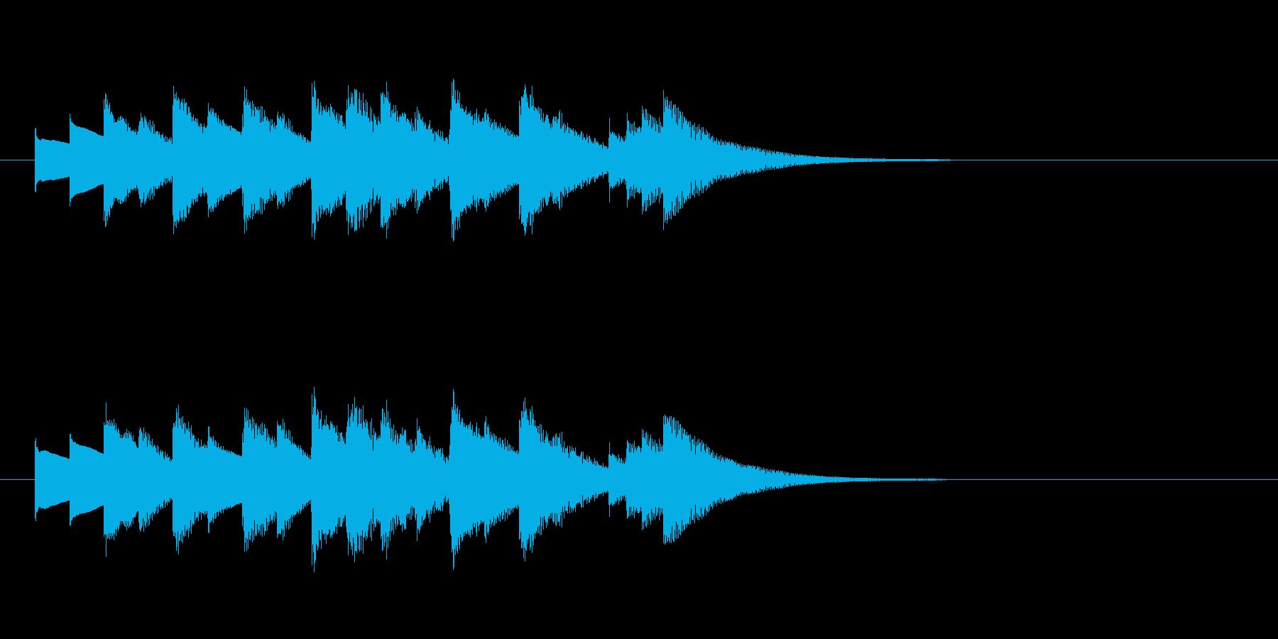 きらっと切ない系オルゴールジングル・短調の再生済みの波形