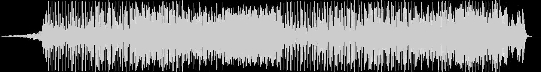 明るくアップテンポなテクノBGMの未再生の波形