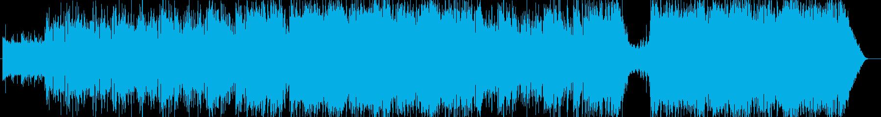 さわやかなピアノメロディーの再生済みの波形
