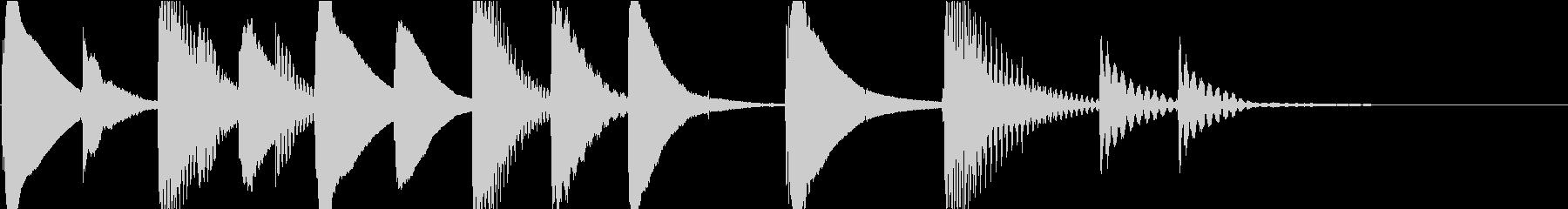 マリンバのほのぼのとしたジングル4の未再生の波形