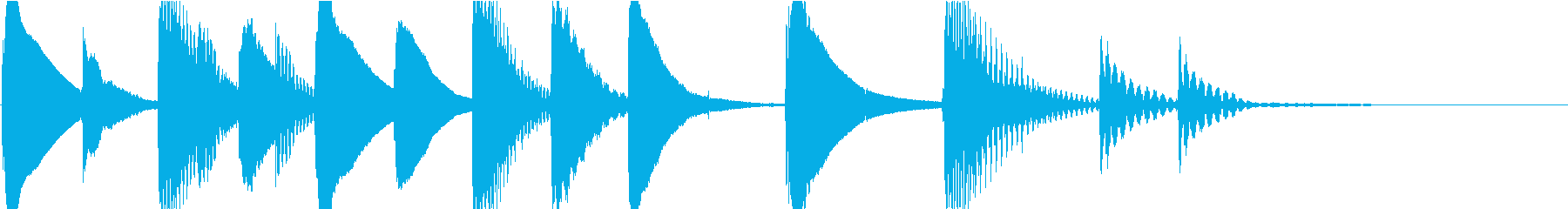 マリンバのほのぼのとしたジングル4の再生済みの波形