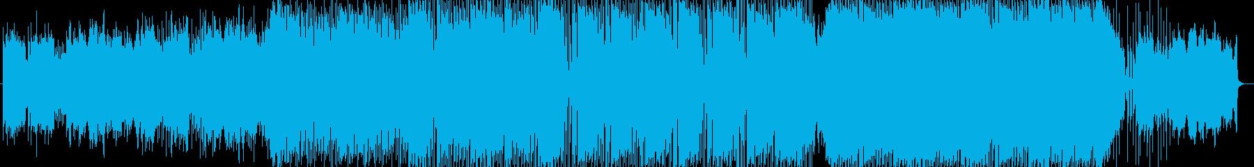 キラキラしていて暖かいフォークトロニカの再生済みの波形