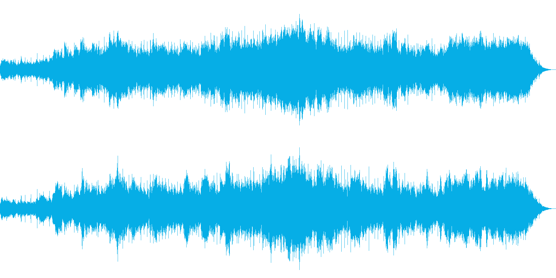幻想的なニューエイジ音楽の再生済みの波形
