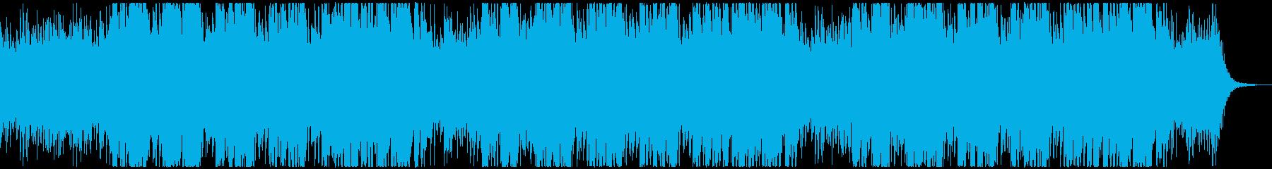 バトルや追われているような緊張感のある曲の再生済みの波形