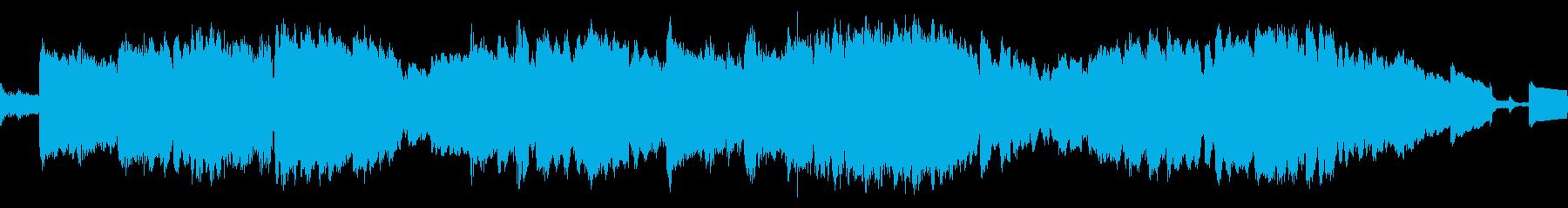 落ち着いた雰囲気のエレクトロニカBGMの再生済みの波形