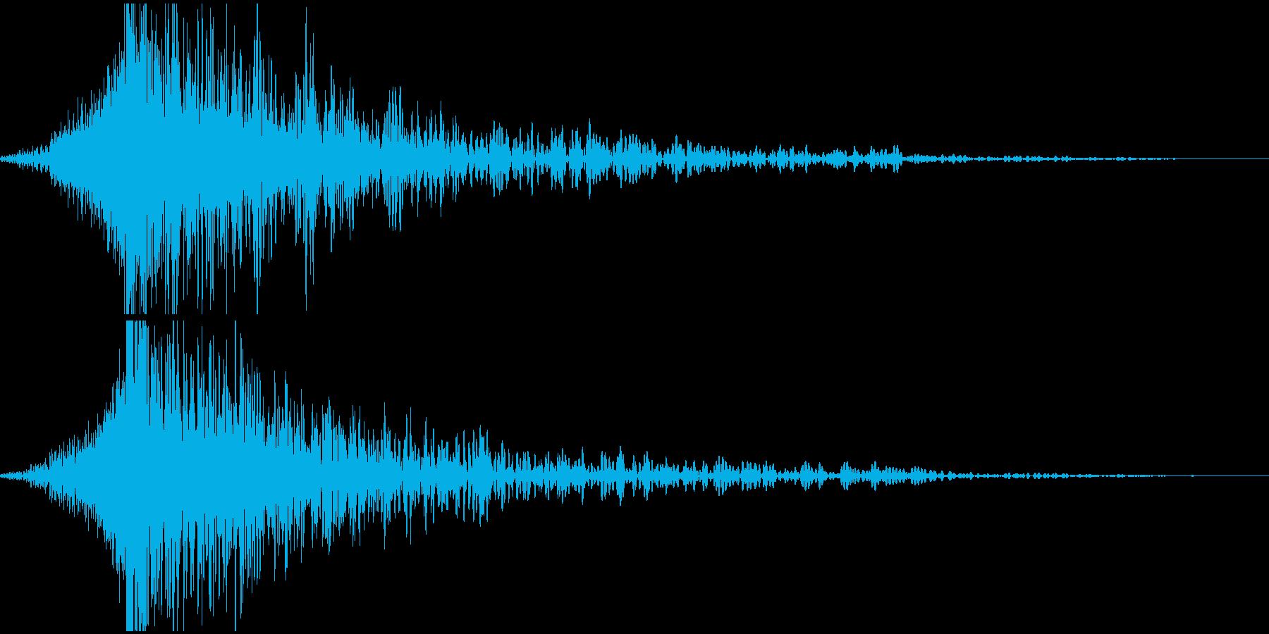 【衝撃音】ビューッ! ドンッッッ!の再生済みの波形