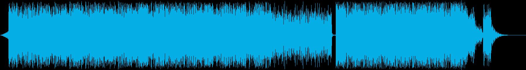 ビート主体の緊迫したテクスチャーの再生済みの波形