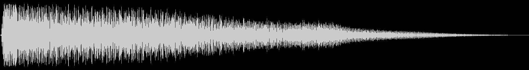 ゴングとシンバルのミュートヒットの未再生の波形