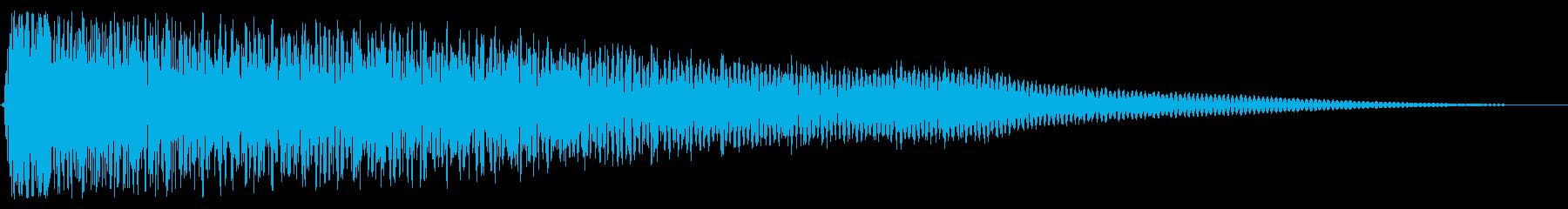 ゴングとシンバルのミュートヒットの再生済みの波形