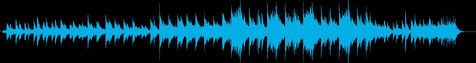 神秘的で幻想的な楽曲の再生済みの波形