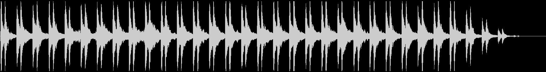 リズムのないゆったりしたピアノ曲の未再生の波形