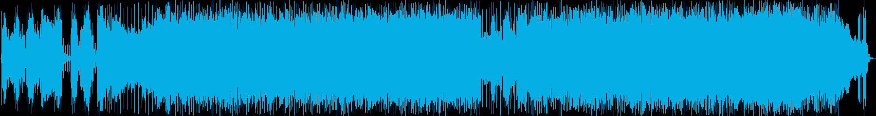 王道的なハードロックBGMの再生済みの波形