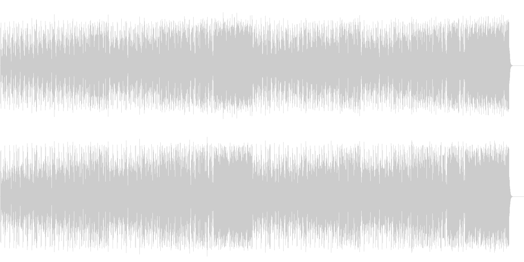 軽妙なファンク ポップ(フルサイズ)の未再生の波形