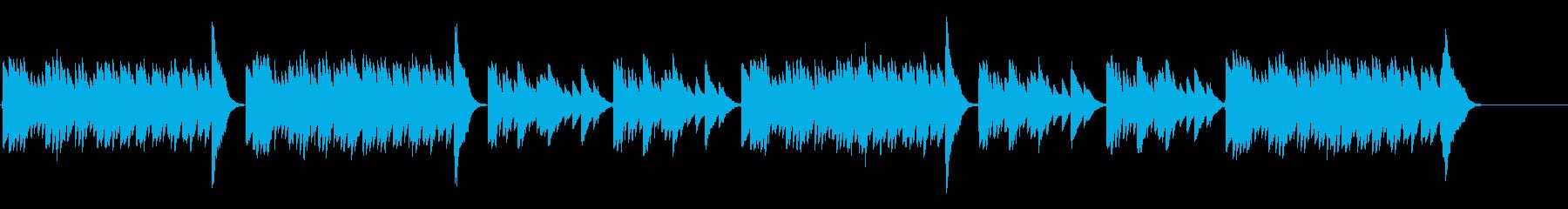 キラキラ星変奏曲(Var Ⅶ)オルゴールの再生済みの波形