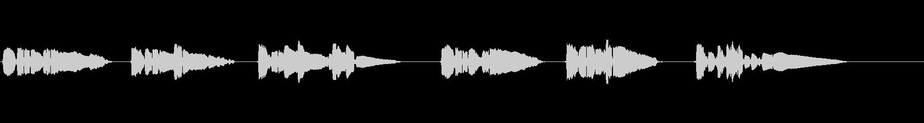 サックス1本で官能的な曲の未再生の波形