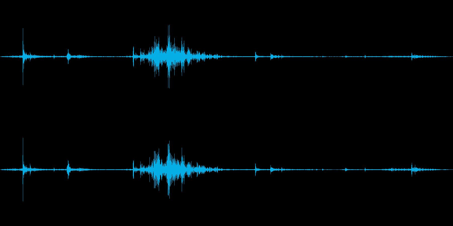 バタンの再生済みの波形
