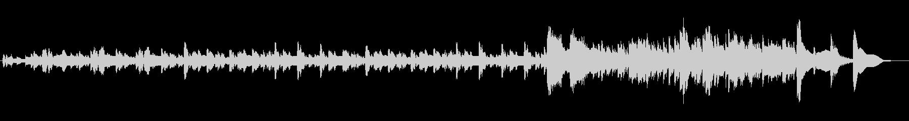 ハープの緊迫した激しい曲の未再生の波形