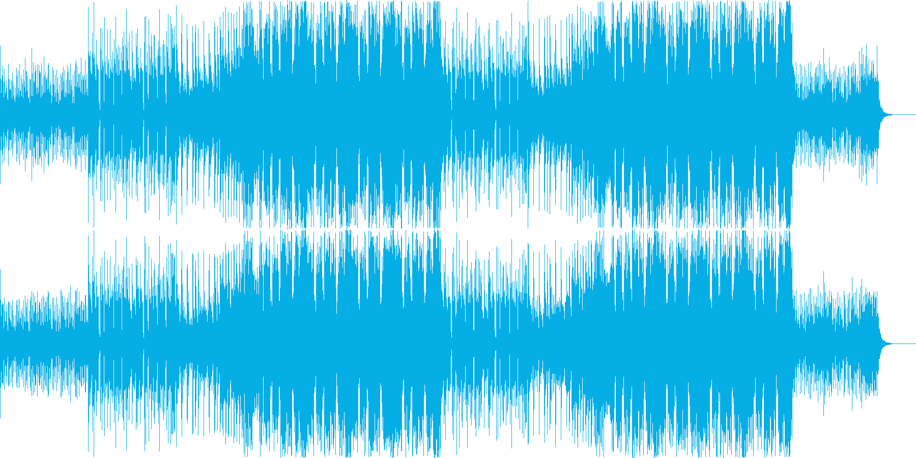 EDM風近代的Future Bassの再生済みの波形
