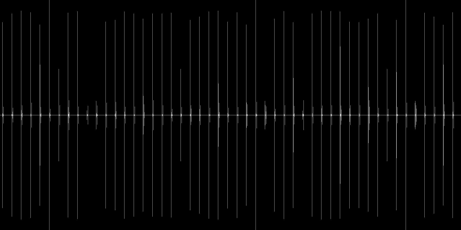 汎用性のあるハイヒールでゆっくり歩く音の未再生の波形