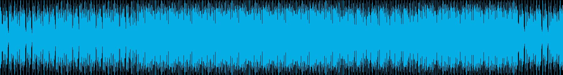 カリンバを使用したおしゃれで楽しいハウスの再生済みの波形