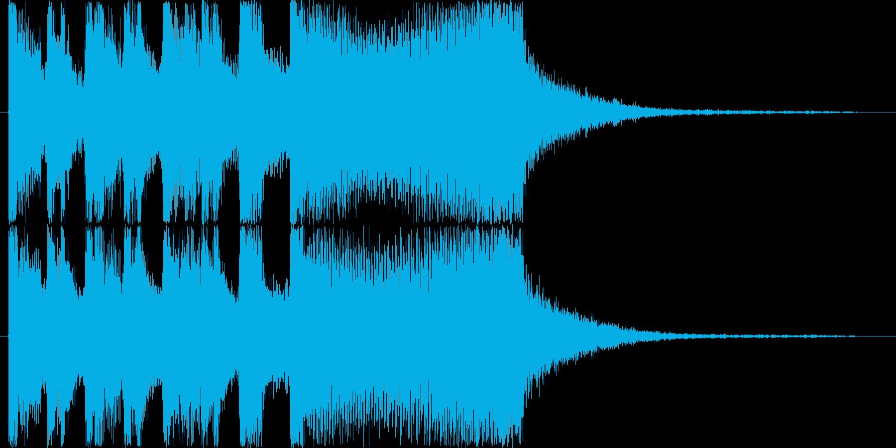 シンセオープニングインパクト_ショートの再生済みの波形