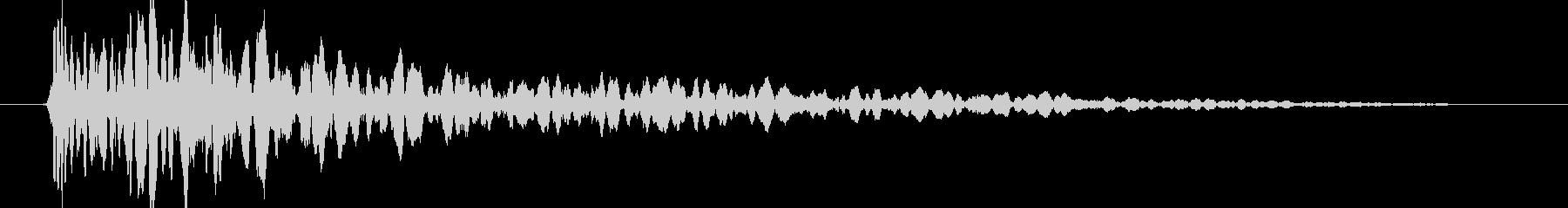 ドーン (ブロックが落下する音) 01の未再生の波形