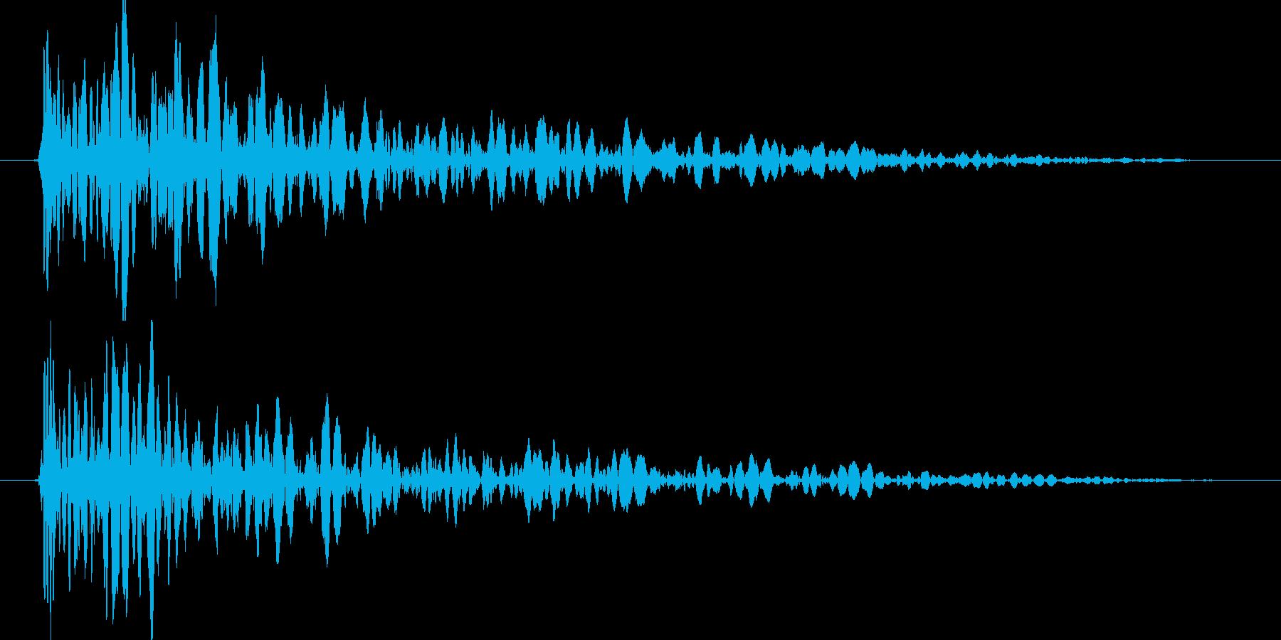 ドーン (ブロックが落下する音) 01の再生済みの波形