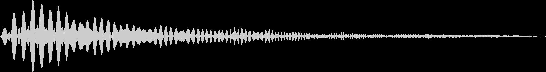 カーソル・決定・キャンセル音 「ポウィ」の未再生の波形