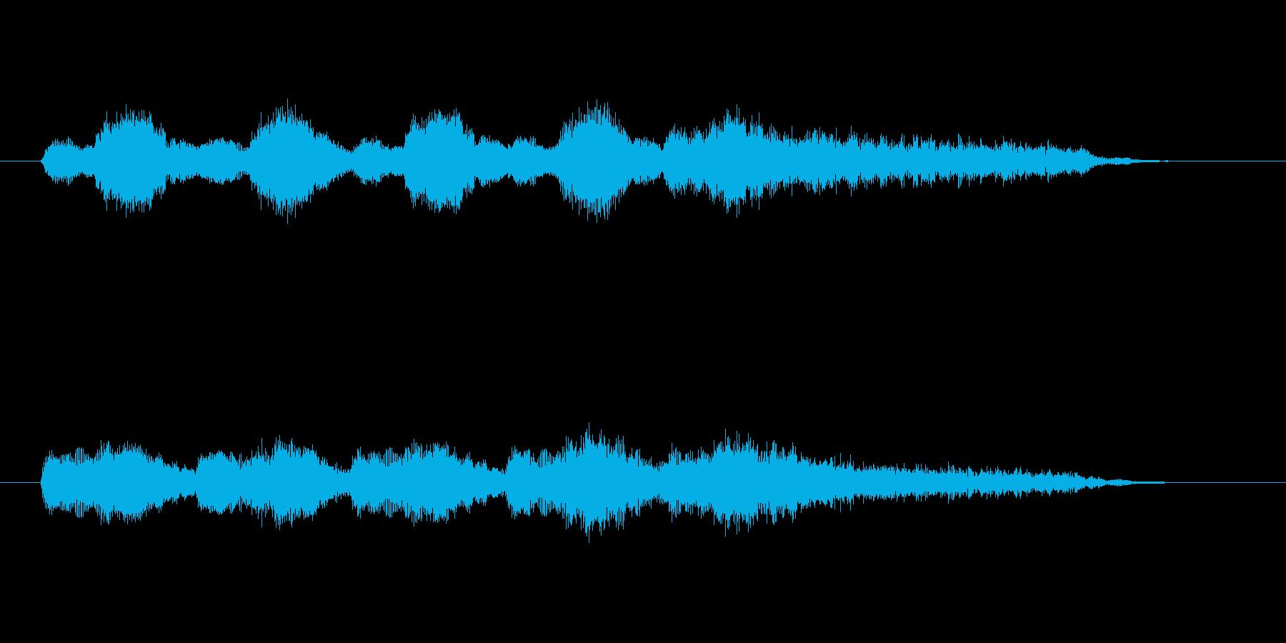 暗く悲しげなバイオリンシンセサウンドの再生済みの波形