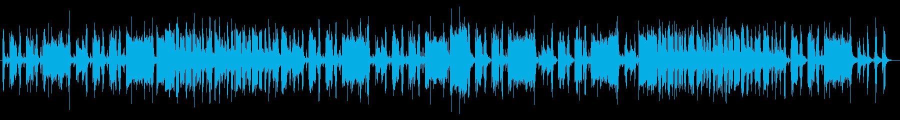 コミカルでほのぼの・ゆるめのBGMの再生済みの波形