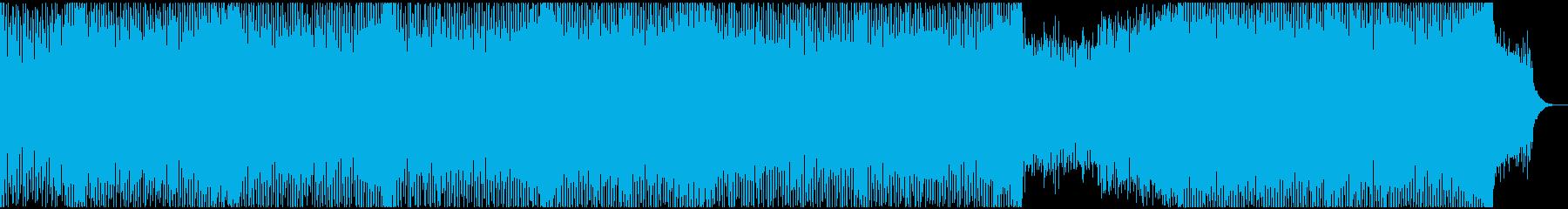 【EDM】疾走感のあるトランス系テクノの再生済みの波形