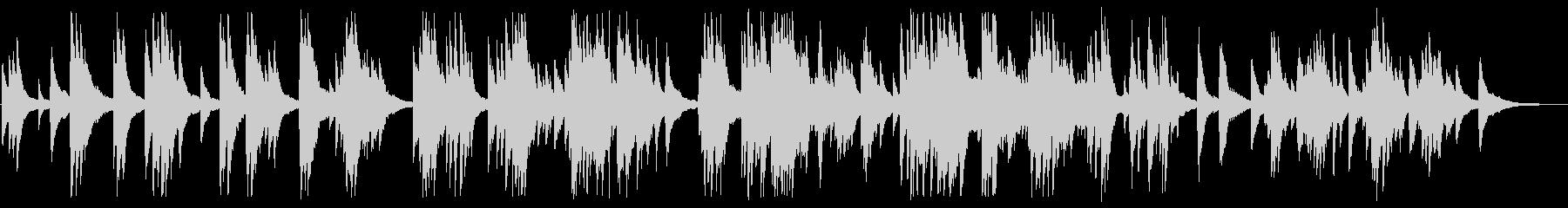 憂いのある大人のジャズピアノBGMの未再生の波形