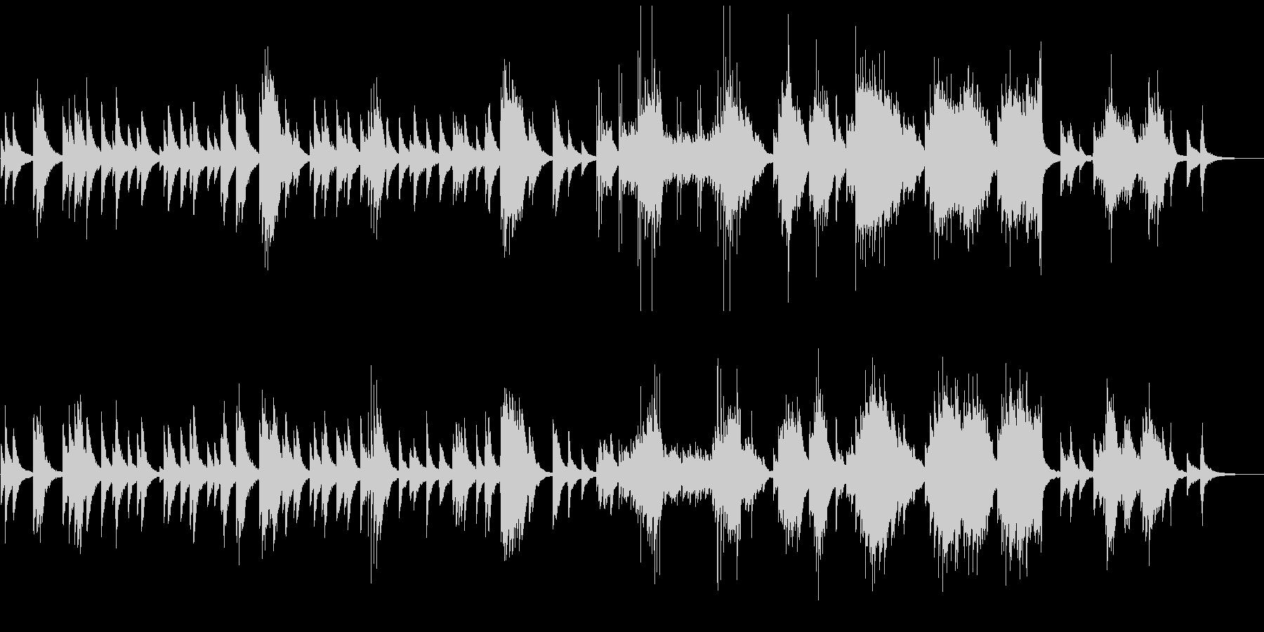しっとりとしたピアノリラクゼーションの未再生の波形